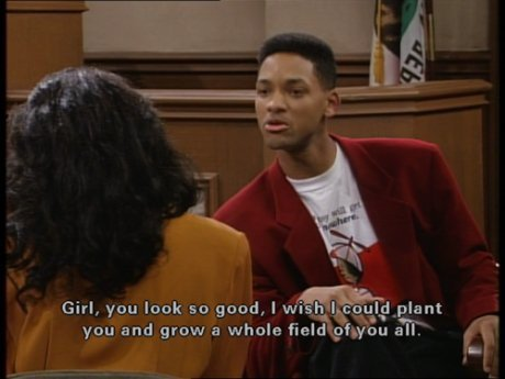 Fresh Prince of Bel Air pickup line. Fuck.com