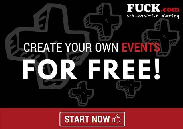 Promo image. Create events for free on Fuck.com