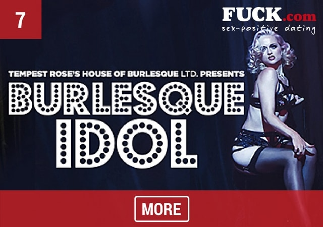Promo Burlesque Idol with burlesque dancer. Fuck.com