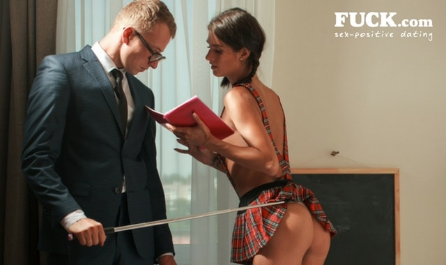 School girl - teacher role playing game. Fuck.com