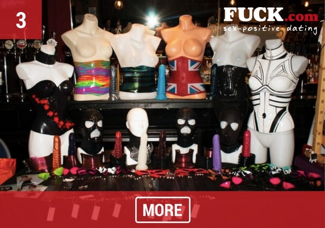 Stall at London Alternative Market selling corsets and masks